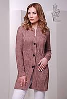 Красивая женская кофта кардиган Даная-5 на пуговицах с длинным рукавом