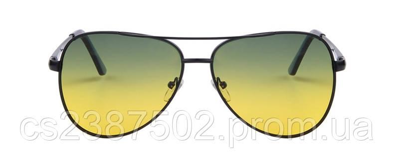 Солнцезащитные очки Merry s авиаторы градиентные желто-зеленые в черной  оправе с поляризацией - Smartshop в aad9bd8d8f6
