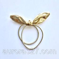 """Резинка """"Переливающиеся ушки"""" в золотом/серебряном цвете"""