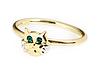 """Кольцо """"Кис"""" с кристаллами Swarovski, покрытое золотом с родием (a791q030), фото 2"""