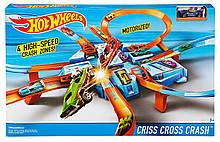 Hot Wheels Трек Хот Вілс Аварія хрест навхрест Criss Cross Crash Track Set DTN42