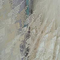 Тюль фатин Зеркала с вышивкой, фото 1