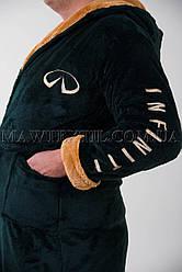 Мужской халат махровый зеленый