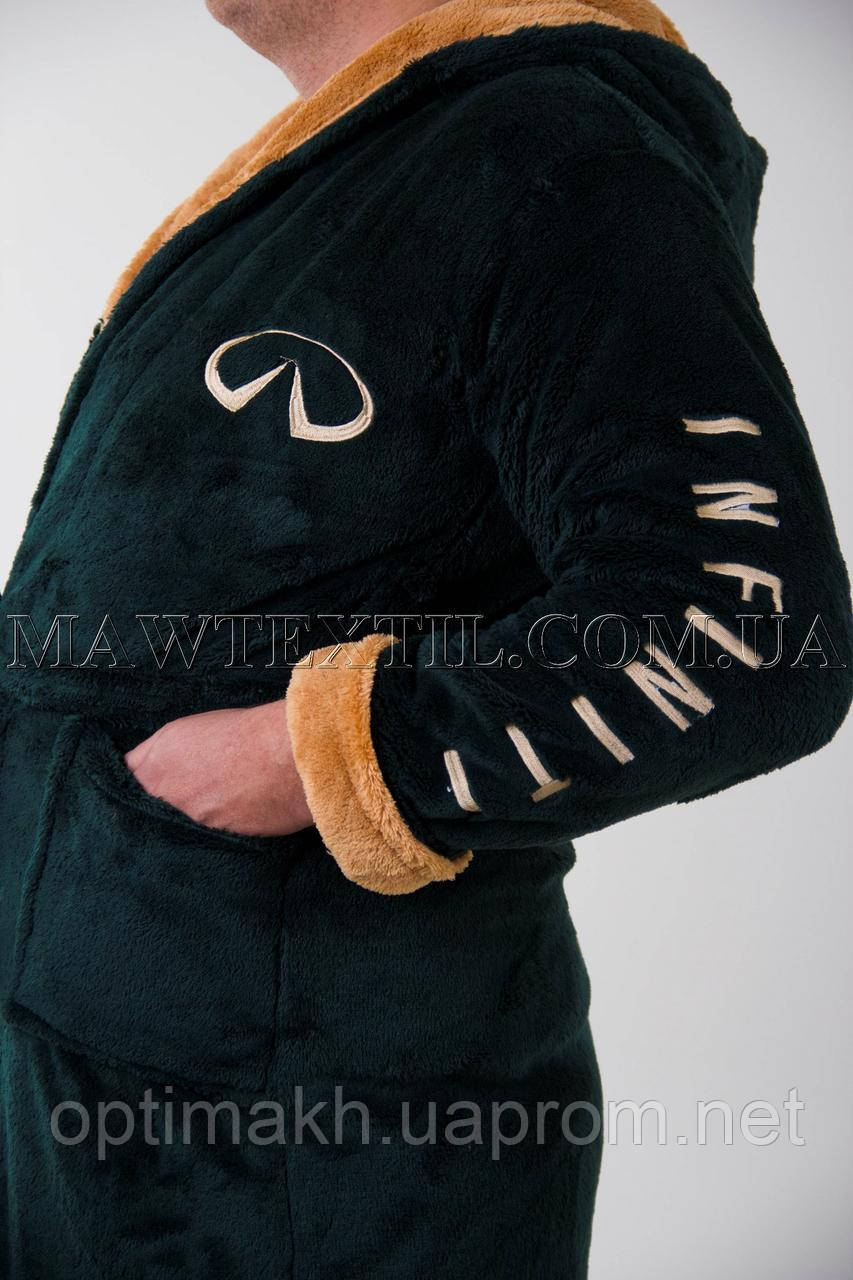 Мужской халат махровый зеленый (бесплатная доставка+подарок) - MAW man&wolf в Харькове