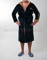 Мужской халат махровый зеленый (бесплатная доставка+подарок)