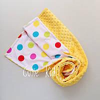 """Конверт-плед на выписку для новорожденного """"Colored dots"""""""