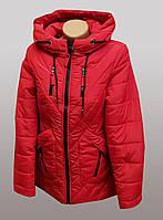 Куртка женская красного цвета
