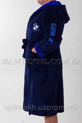 Мужской халат    синий (BMW) , фото 2