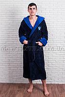 Мужской халат    синий (BMW)