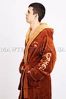 Мужской халат  махровый (Сamel) (бесплатная доставка+подарок)