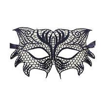Черная кружевная маска для глаз Сова