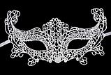 Праздничная маска белая из кружева, фото 2
