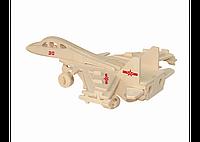 3D пазл истребитель (2 маленькие доски)