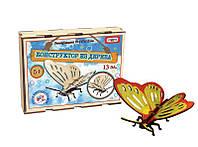 3D деревянный конструктор Бабочка,  Strateg 603