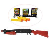Ружье 44cм, мягкие-пули присоски 3шт, мишень, в кульке HS328-4