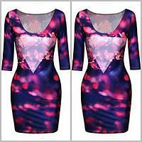 Яркое платье с 3Д принтом...