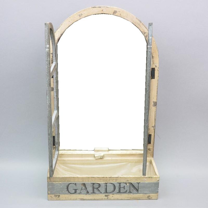 """Декор - зеркало """"Garden"""" с подставкой для цветов"""