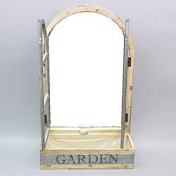 """Декор - дзеркало """"Garden"""" з підставкою для квітів"""