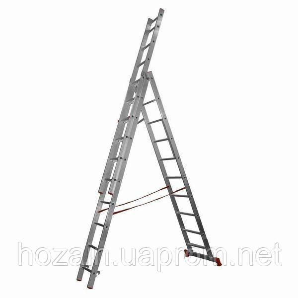 Драбина алюмінієва 3-х секційна Stairs L311