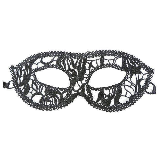 Ажурная женская маска для глаз черная