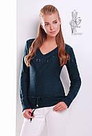 Вязаные шерстяные женские свитера Муза-1 с акрилом