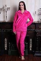 Пижама женская махровая УЮТ розовая (бесплатная доставка+подарок)