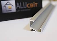 Светодиодный алюминиевый LED профиль ЛПУ 17 анодированный серебро (для светодиодных лент)