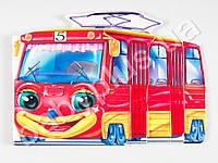 Смешные машинки (мини): Трамвай (р) M15477P