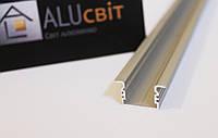 Светодиодный алюминиевый LED профиль ЛПВ 12 анодированный серебро (для светодиодных лент)