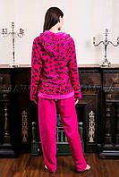 Женский домашний костюм Leopard  малинка