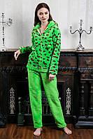 Женский домашний костюм Leopard зеленый