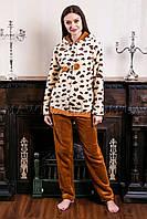 Пижама женская Leopard бежевая