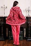 Женский домашний костюм Leopard персик