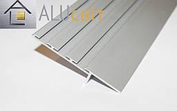 Плинтус  алюминиевый скрытого монтажа 80 мм без покрытия, фото 3