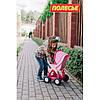 Коляска для кукол №2 прогулочная 4-х колёсная , фото 3