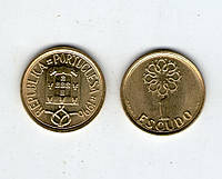 Португалия 1 эскудо 1996г. бронза UNS из банка