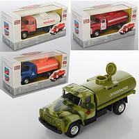 Бензовоз, металл, инер-й, военный, 12см, 1:52, открывается цистерна, резиновые колеса, в коробке 6520B