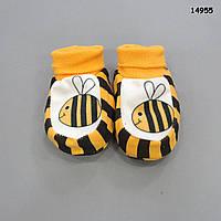 """Пинетки """"Пчелка"""" для малыша. 0-3 мес"""