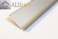 Плинтус накладной алюминиевый 60 мм анодированный серебро
