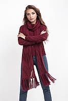 Ажурный джемпер с шарфом