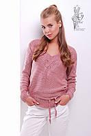Вязаные шерстяные женские свитера Муза-4 с акрилом