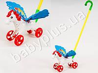 Каталка Лошадка, на палке, в кульке MMT-0351