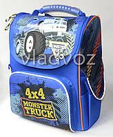 Школьный каркасный рюкзак Yes для мальчиков Monster Truck синий