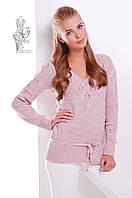 Вязаные шерстяные женские свитера Муза-6 с акрилом