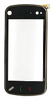 Тачскрин (сенсор) Nokia N97 with frame (с рамкой), black (черный)