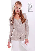 Вязаные шерстяные женские свитера Муза с акрилом