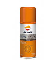 Синтетическая смазка для цепей мотоциклов Repsol MOTO CHAIN, 400мл (RP715W98)