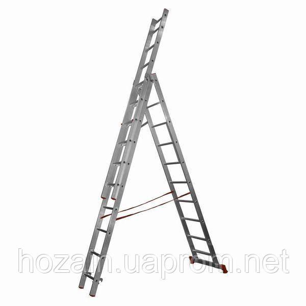 Лестница 3-х секционная алюминиевая Stairs  L313
