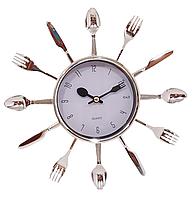 Часы  кухонные ( 250 мм ) вилки-ложки