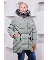 Женское зимняя куртка с натуральным мехом в 8ми цветах ML-089п